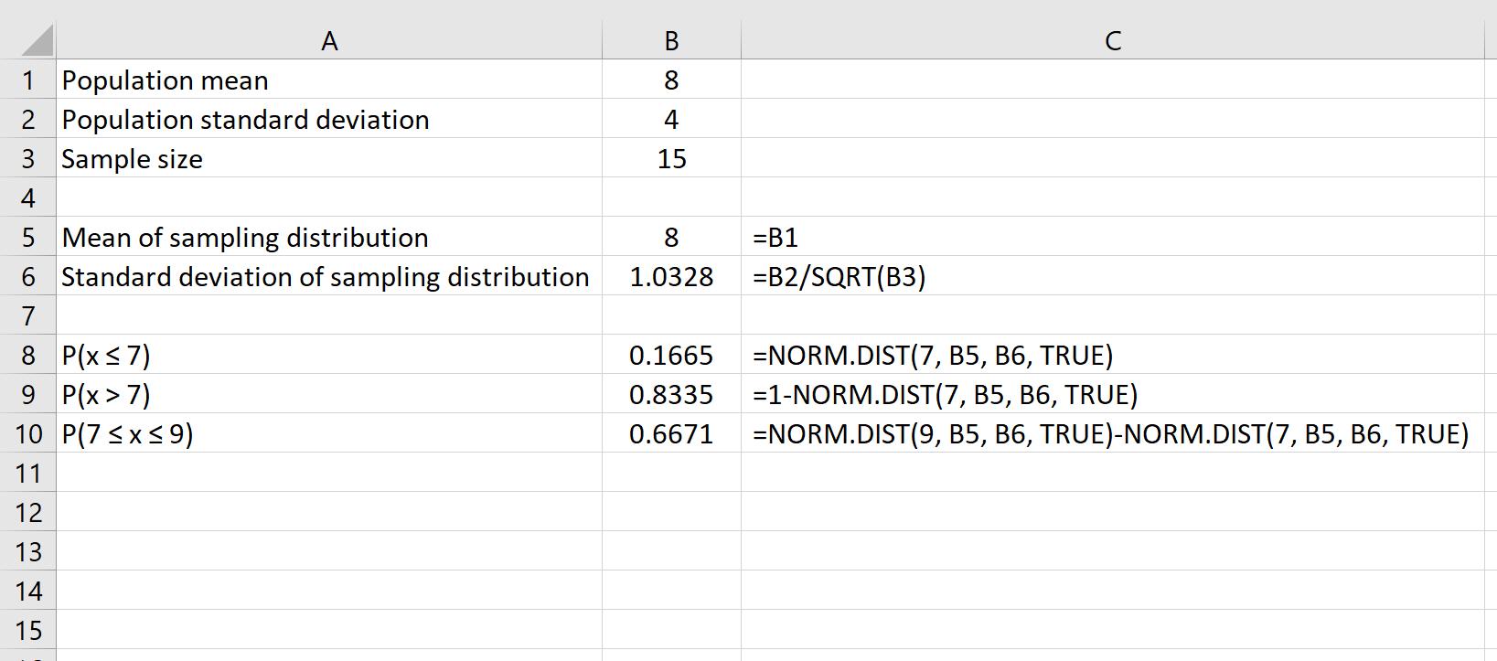 So wenden Sie den zentralen Grenzwertsatz in Excel an • Statologie