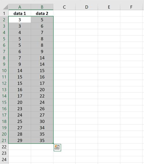Zwei Datenspalten in Excel